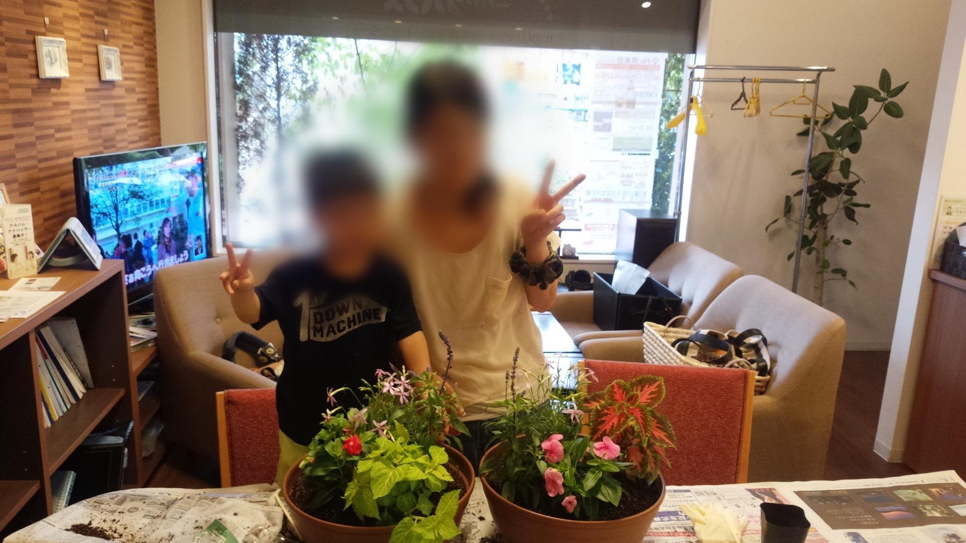 ガーデニングでママさんの心の健康を(^^)
